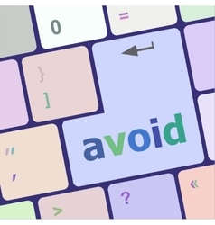 Avoid word on keyboard key notebook computer vector