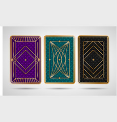 back side design for playing cards vector image