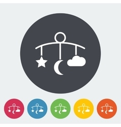 Bed carousel flat icon vector image