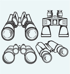 Binoculars Set icon vector image