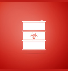 biological hazard or biohazard barrel icon vector image