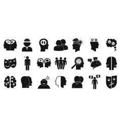 Bipolar disorder icon set simple style vector