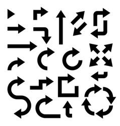 black arrows set collection bold web icons vector image