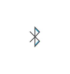 bluetooth icon design essential icon vector image