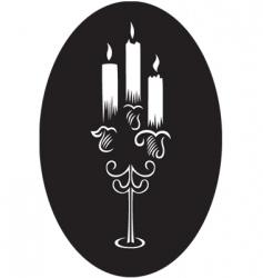 candlesticks vector image