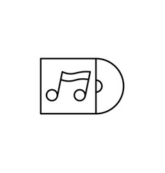 Cd album icon vector