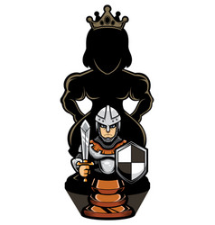 chess pawns and queen vector image