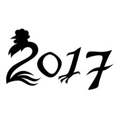 Chiken year vector