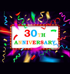 Colorful 30 date celebration background vector