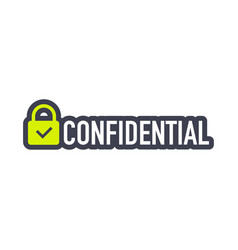 Confidential green stamp isolated on transparent vector