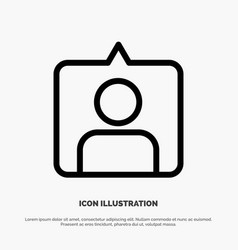 Contact instagram sets line icon vector