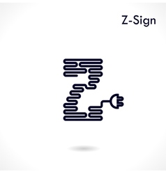 Creative Z- letter icon vector image