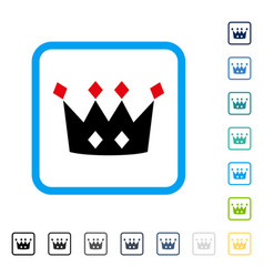 crown framed icon vector image