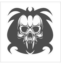 Demon Skull on white vector image vector image