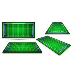 Detailed of an american football fields with vector