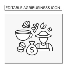 Farming line icon vector