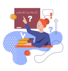 Flat stylized a teacher vector
