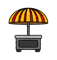 Food kiosk icon vector