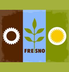 Fresno city flag vector