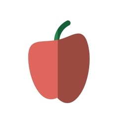 Fruit apple school symbol icon shadow vector