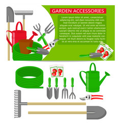 gardening tools icons isolated on white background vector image