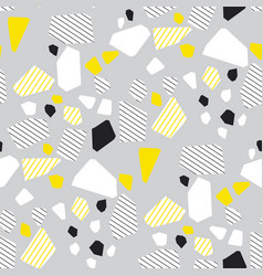 geometrical particles flat color seamless pattern vector image