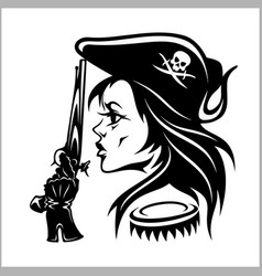 Girl pirate vector