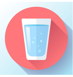 glass water icon flat design vector image
