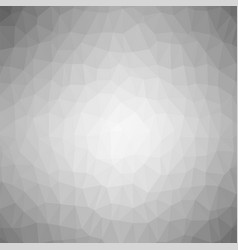grey polygonal background rumpled triangular vector image