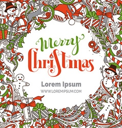 Hand-drawn Merry Christmas background vector