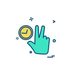 hands icon design vector image