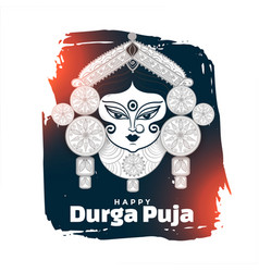 Happy durga pooja or navratri festival card design vector