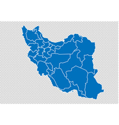 Iran map - high detailed blue map with vector