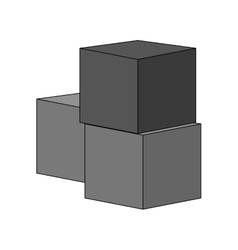 Isolated block toy design vector