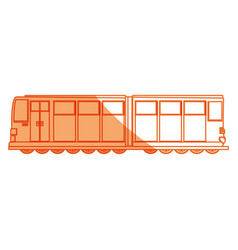 Isolated merchandise train vector