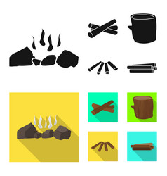 Isolated object material and logging logo set vector