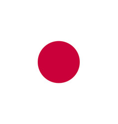 japan flag icon in flat style national sign vector image