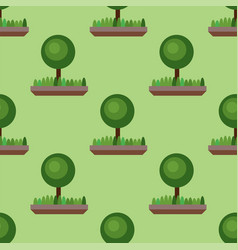 Leaves of green trees seamless pattern vector