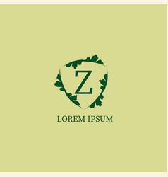 Letter z alphabetic logo design template isolated vector