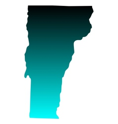 Map of Vermont vector image vector image