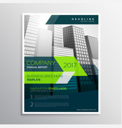modern company brochure template design vector image