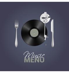 Music menu vector