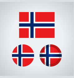 norwegian trio flags vector image