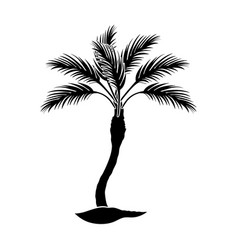 Palm beach treesummer rest single icon in black vector