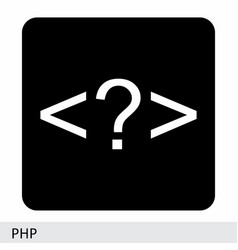 php code symbol vector image