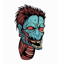 Picture with a zombie head vector