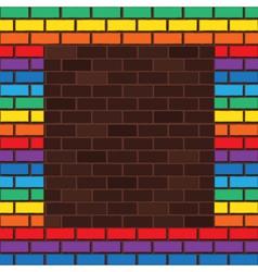 Rainbow bricks vector