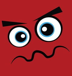 Red monster face vector