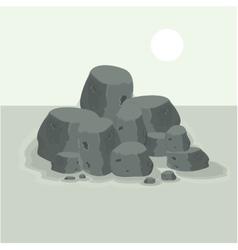 Rock on the sea landscacpe vector