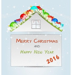 Roof with many christmas objects vector